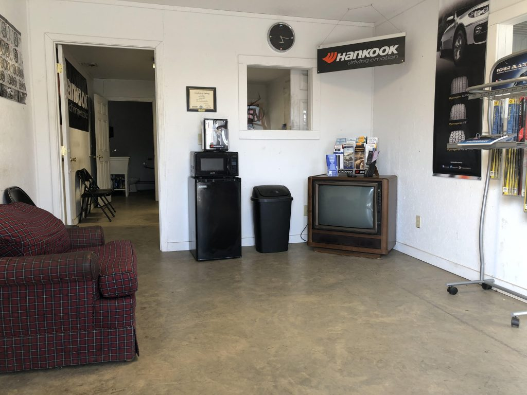 Waiting Room at P & M Tire